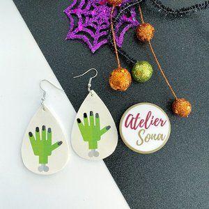 Frankenstein Halloween Earrings